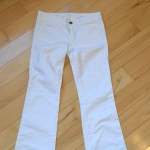 Gap jeans 25 0 sexy boot women white buton flap